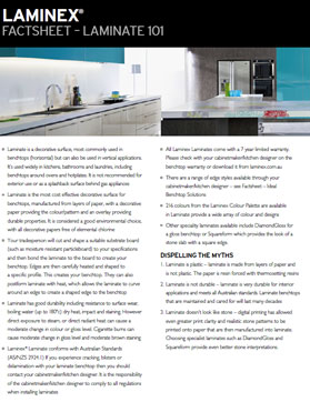 Laminex Laminate 101 Factsheet